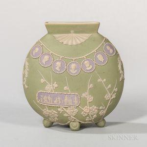Wedgwood Tricolor Jasper Dip Japonesque Moon Vase