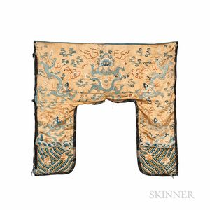 Chinese Silk-on-silk Embroidered Valance