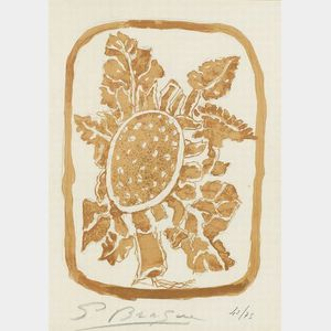 Attributed to Georges Braque (French, 1882-1963)  Leaves.
