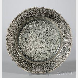 Staffordshire Spatter Glazed Creamware Plate