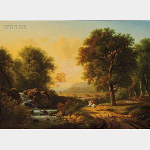 British School, 18th Century Style      Hunting Scene