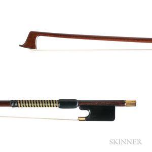 Gold-mounted Violin Bow, Franz Albert Nürnberger (II), Markneukirchen, c. 1915