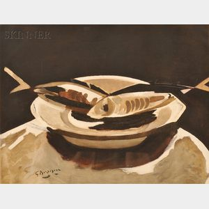 After Georges Braque (French, 1882-1963)      Poissons