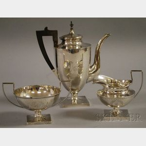 Birmingham Silver Company Three-piece Sterling Demitasse Set
