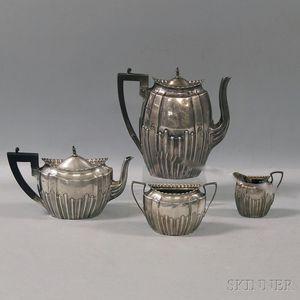 Four-piece English Silver Tea Set