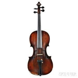 German Violin, Johann Gottlob Ficker, c. 1780