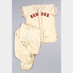 Rare Ted Williams 1959 Team Issue Two Part Wool #9 Uniform