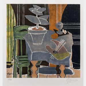 After Georges Braque (French, 1882-1963)      Nature morte à la palette
