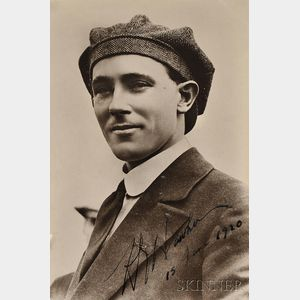 Hawker, Harry George (1889-1921) Two Photographs, One Signed, 15 June 1920.