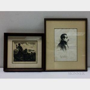 Two Framed Prints:      Eugene Higgins (American, 1874-1958), Fisherman's Family