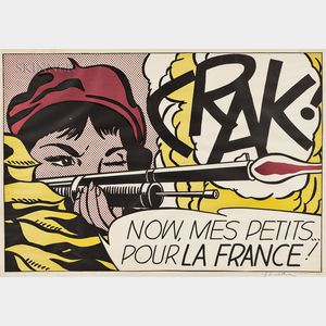 Roy Lichtenstein (American, 1923-1997)      Crak!