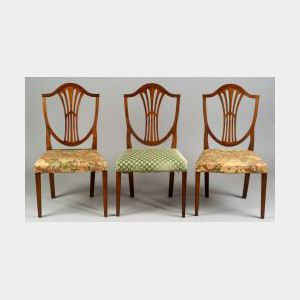 Three Cherry Federal Shield-back Side Chairs