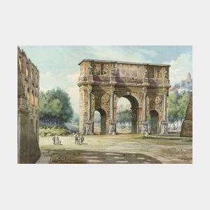 Robert Gigli (Italian, 19th Century)  Arch of Constantine, Rome