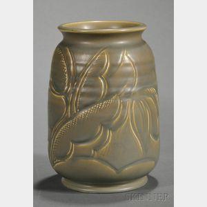 Susie Copper Green Glazed Earthenware Vase