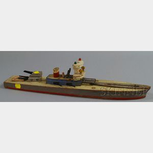 Wooden Keystone Battleship Toy Boat and Two Horse Racing Board Games