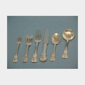 Seventy-two Piece Towle Sterling Silver Old Master Partial Flatware Set.