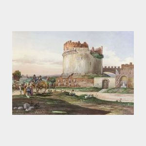 Robert Gigli (Italian, 19th Century)  A View of Roman Ruins