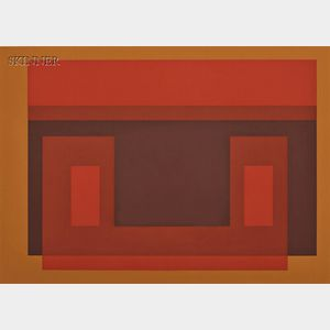 Josef Albers (German/American, 1888-1976)      Four Images:  I-S Va 1