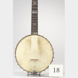American Five-String Banjo, W.A. Cole, Boston, c. 1895, Model Eclipse, No. 2923