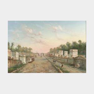 La Pira (Italian, 19th/20th Century)  Lot of Four Naples and Pompeii Views