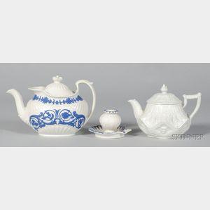 Three Wedgwood White Smear Glazed Stoneware Items