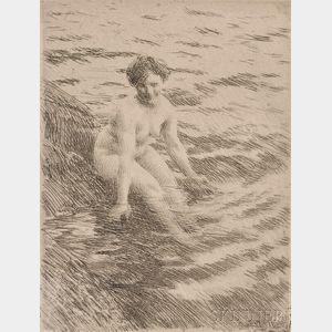 Anders Zorn (Swedish, 1860-1920)      Wet