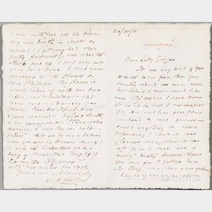 Hudson, William Henry (1841-1922) Autograph Letter Signed, London, 24 December 1911.