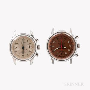 Two Manual-wind Chronograph Wristwatches