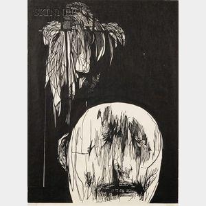 Leonard Baskin (American, 1922-2000)      Torment