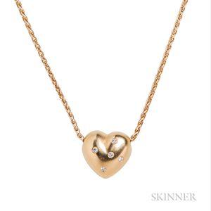 18kt Gold Heart Pendant