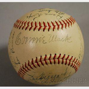 1948 Philadelphia Athletics Autographed Baseball
