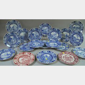 Nineteen Wedgwood Columbia University Ceramic Plates.