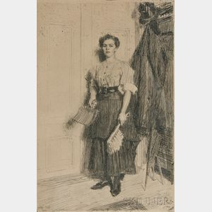 Anders Zorn (Swedish, 1860-1920)      The New Maid