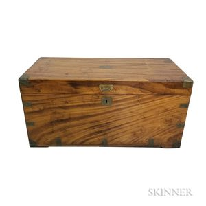 Chinese Export Brass-bound Camphorwood Box