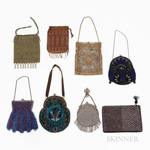 Eight Vintage Beaded Purses