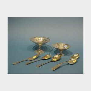 Seven Pieces of Assorted Sterling, Coin and Silver Plated Items.