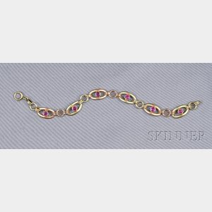 14kt Bicolor Gold and Ruby Bracelet