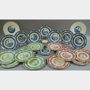 Twenty-two Wedgwood Cornell University Ceramic Plates