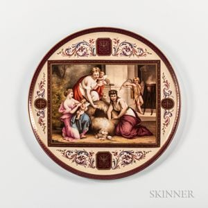 Vienna Porcelain Hand-painted Tray