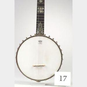 American Five String Banjo, W.A. Cole, c. 1895, Model Eclipse, Serial No. 2300