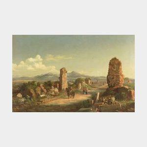 Attributed to Jacob George Strutt (British, 1790-1864)  Roman Ruins