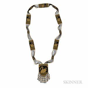 Glass Bead Necklace, Attributed to Wiener Werkstatte