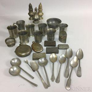 Group of Pewter Tableware