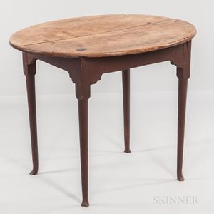 Queen Anne Maple Oval-top Tea Table