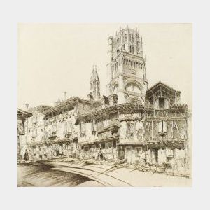 John Taylor Arms (American, 1887-1953)  Lot of Three Works from the FRENCH CHURCH SERIES: