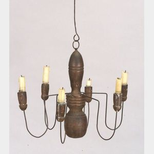 Wood and Wire Chandelier