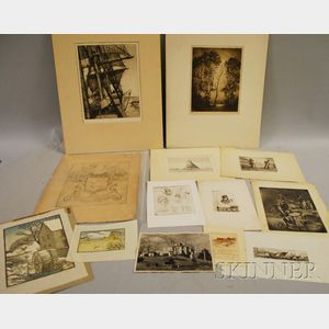 American School, 20th Century      Lot of Twelve Works on Paper