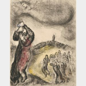 Marc Chagall (French/Russian, 1887-1985)      Four Plates from BIBLE