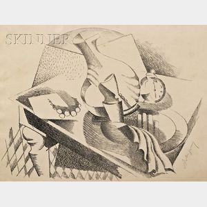 Alexander Archipenko (Ukrainian/American, 1887-1964)      Stillleben