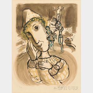 Marc Chagall (Russian/French, 1887-1985)      Le cirque au clown jaune